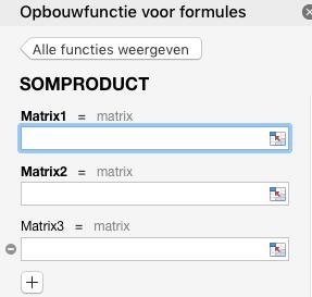 De functie SOMPRODUCT in Excel.