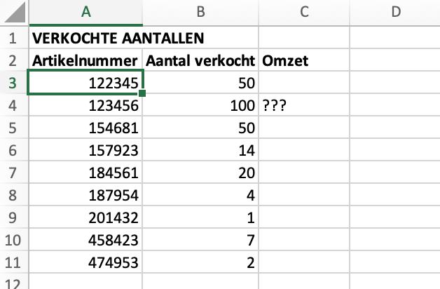 Basisbestand verkochte aantallen